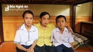 Hai cháu bé mồ côi bố, mẹ bị u não được làng trẻ SOS Vinh đón về chăm nuôi