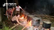 Nhiều vùng quê ở Nghệ An gói bánh chưng, làm đèn ông sao 'khủng' đón Trung thu