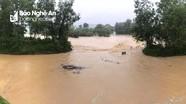 Mưa lớn, nước lũ lên nhanh chia cắt nhiều khu vực ở Thanh Chương