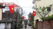 Đường quê rợp cờ hoa chào mừng Đại hội Đảng toàn quốc lần thứ XIII