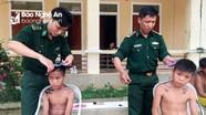 Hàng trăm học sinh, người dân xã biên giới được cắt tóc miễn phí