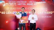 9X Nghệ An trúng thưởng 1 cây vàng khi đăng ký 4G Viettel