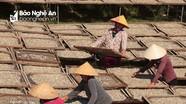 Nhộn nhịp làng nghề cá trỏng vào mùa