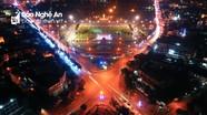 Thành phố Vinh đẹp lung linh thời khắc lên đèn