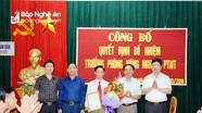 Anh Sơn bổ nhiệm Trưởng phòng Nông nghiệp và Phát triển nông thôn