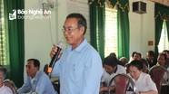 Đại biểu HĐND tỉnh tiếp xúc với cử tri xã Chi Khê huyện Con Cuông