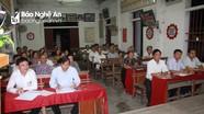 Chủ nhiệm Ủy ban Kiểm tra Tỉnh ủy dự sinh hoạt chi bộ tại Anh Sơn