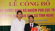 Trao quyết định bổ nhiệm Phó cục trưởng Cục Thi hành án dân sự Nghệ An