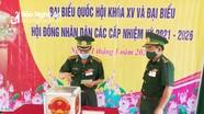 Cử tri Bộ đội Biên phòng Nghệ An thực hiện bầu cử sớm