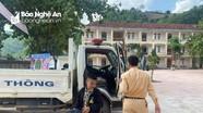 Thí sinh huyện rẻo cao Nghệ An không trễ thi nhờ xe chuyên dụng của CSGT