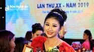 Nữ sinh 18 tuổi giành danh hiệu Người đẹp Lễ hội Làng Vạc năm 2019