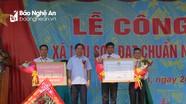 Xã Lưu Sơn (Đô Lương) đón Bằng công nhận xã đạt chuẩn Nông thôn mới