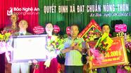 Xã An Hòa (Quỳnh Lưu) đón Bằng công nhận xã đạt chuẩn nông thôn mới