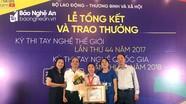 Thí sinh Nghệ An đạt giải Nhất kỳ thi tay nghề Quốc gia