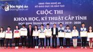 78 dự án của học sinh đạt giải tại Cuộc thi Khoa học kỹ thuật năm học 2019 - 2020