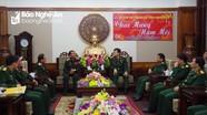 Bộ CHQS tỉnh Hủa Phăn (Lào) chúc Tết Bộ CHQS Nghệ An