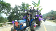"""Dàn xe công nông rước dâu ở Nghệ An """"hút"""" cộng đồng mạng"""