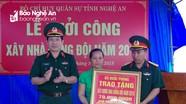 Bộ CHQS tỉnh Nghệ An khởi công xây dựng nhà đồng đội