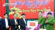 Phó Bí thư Tỉnh ủy Nguyễn Văn Thông thăm và chúc Tết các đơn vị cảnh sát