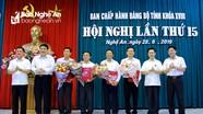 Nghệ An công bố quyết định chỉ định 6 Ủy viên Ban Chấp hành Đảng bộ tỉnh nhiệm kỳ 2015 - 2020