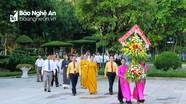 Ủy ban Mặt trận Tổ quốc tỉnh dâng hoa, dâng hương tại Khu Di tích Kim Liên