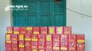 """Phụ xe khách """"ôm"""" 39 kg pháo từ Lào về bán kiếm lời"""