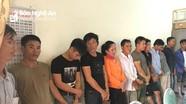 Nghệ An bắt giữ 19 đối tượng đánh bạc bằng hình thức chọi trâu.