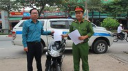 Từ Hà Nội vào Nghệ An nhận lại xe máy bị mất cách đây 8 năm