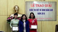 Báo Nghệ An đạt giải tại cuộc thi viết về bình đẳng giới năm 2018
