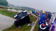 Xe Mitsubishi đâm vào lan can rồi lật nhào trên đường N5, hai phụ nữ bị thương nặng