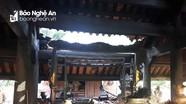 Ngôi đền nổi tiếng ở Thanh Chương bị cháy trong đêm
