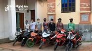 Xử phạt nhóm thanh niên dùng xe ga lượn lờ, tụ tập giữa thời điểm cách ly ở Diễn Châu