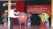 Trưởng ban Nội chính Tỉnh ủy dự lễ khai giảng tại Quỳnh Lưu