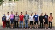 Nghệ An: Triệt phá đường dây đánh bạc quy mô lớn, bắt 11 đối tượng