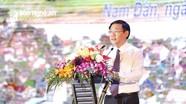 Phó Thủ tướng Vương Đình Huệ: Xây dựng Nam Đàn trở thành miền quê đáng sống
