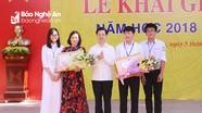 Phó Bí thư Thường trực Tỉnh ủy dự khai giảng tại Trường THPT chuyên Phan Bội Châu