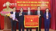 Huyện Hưng Nguyên đón nhận Cờ thi đua của Chính phủ