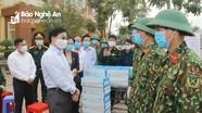 Phó Bí thư Tỉnh ủy Nguyễn Văn Thông kiểm tra điểm cách ly tập trung tại Yên Thành và Quỳnh Lưu
