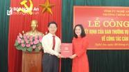Trao Quyết định bổ nhiệm Hiệu trưởng Trường Chính trị tỉnh Nghệ An
