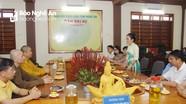 Ban Thường trực Ủy ban MTTQ tỉnh chúc mừng Đại lễ Phật Đản năm 2020
