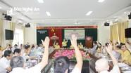 Nghệ An: Hiệp thương thống nhất danh sách người ứng cử đại biểu Quốc hội
