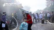 Cháy ki-ốt chợ Hưng Dũng (TP Vinh)