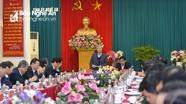 Thường trực Ban Bí thư Trần Quốc Vượng nêu định hướng phát triển tỉnh Nghệ An