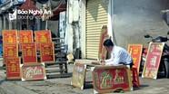 Nghệ An: Tranh mừng thọ tiêu thụ chậm, người bán lo ế khách