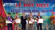 Minh Thành (Yên Thành) đón nhận danh hiệu xã đạt chuẩn nông thôn mới