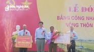 Xã Diễn Phúc (Diễn Châu) đón bằng công nhận xã nông thôn mới
