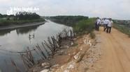 Hơn 1.000 mét đê biển ở Quỳnh Lưu có nguy cơ vỡ