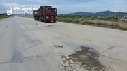 Đường N5 mới đưa vào sử dụng ở Nghệ An đã phình lún, nứt rạn nhiều chỗ