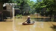 Nhiều vùng ở huyện Tương Dương, Anh Sơn đang bị cô lập do lũ lụt