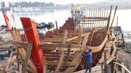 Cận cảnh nghề đóng tàu cá công suất lớn ở địa đầu Nghệ An